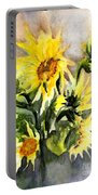 Sunflowers In Abstract Portable Battery Charger
