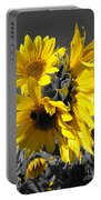 Yellow Selected Sunflowers Portable Battery Charger