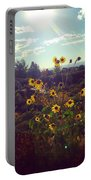 Sunflowers In Sun Light Portable Battery Charger