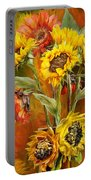 Sunflowers In Sunflower Vase - Square Portable Battery Charger