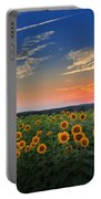 Sunflowers In The Evening Portable Battery Charger by Bill Wakeley