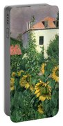 Sunflowers In The Garden At Petit Gennevilliers  Portable Battery Charger