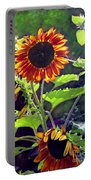 Sunflowers In The Park Portable Battery Charger