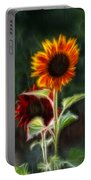 Sunflowers In The Rain Portable Battery Charger