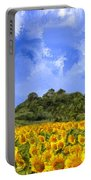 Sunflowers In Tuscany Portable Battery Charger