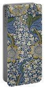 Sunflowers On Blue Pattern Portable Battery Charger