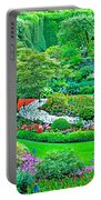 Sunken Garden In Butchart Gardens Near Victoria-british Columbia Portable Battery Charger