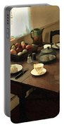 Sunlight On Dining Table Portable Battery Charger