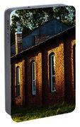 Sunlight On Old Brick Building - Ellensburg - Washington Portable Battery Charger