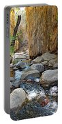Sunlight Over Rocky Andreas Creek In Indian Canyons-ca Portable Battery Charger
