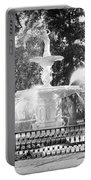 Sunlight Through Savannah Fountain With Vignette Portable Battery Charger