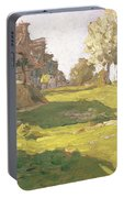 Sunlit Day  A Small Village Portable Battery Charger