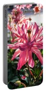 Sunlit Fancy Pink Columbine Portable Battery Charger