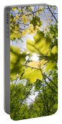 Sunlit Leaves Portable Battery Charger