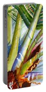 Sunlit Palm Fronds Portable Battery Charger