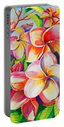 Sunlit Plumeria Portable Battery Charger