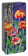 Sunlit Poppies Portable Battery Charger