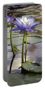 Sunlit Purple Lilies  Portable Battery Charger