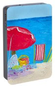 Sunny Afternoon At The Beach Portable Battery Charger