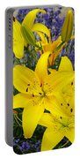 Sunny Asiatics With Lavender Portable Battery Charger