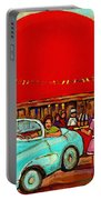 Sunny Day At The Big Orange Julep  Montreal Road Side Diner Carole Spandau Portable Battery Charger