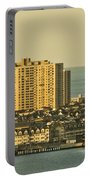 Sunny Day In Atlantic City Portable Battery Charger by Trish Tritz