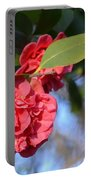 Sunny Red Camelias Portable Battery Charger