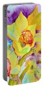 Sunny Splash Of Orchids Portable Battery Charger