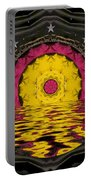 Sunrise In Paradise Pop Art Portable Battery Charger
