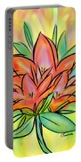 Sunrise Lily Portable Battery Charger