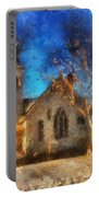 Sunrise On A Rural Church 12 Portable Battery Charger