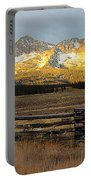 Sunrise On Sawtooth Mountains Idaho Portable Battery Charger