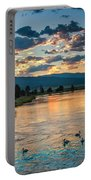 Sunrise On The North Payette River Portable Battery Charger