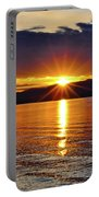 Sunrise On Yellowstone Lake Portable Battery Charger