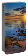 Sunrise Over Lake Michigan Portable Battery Charger