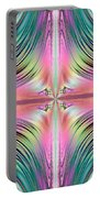 Sunrise Over The Waterfalls Fractal Portable Battery Charger