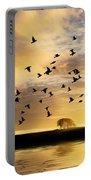 Birds Awaken At Sunrise Portable Battery Charger