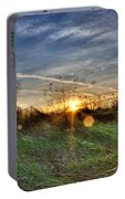 Sunrise Through Grass Portable Battery Charger