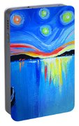 Sunrise At The Lake - Van Gogh Style Portable Battery Charger