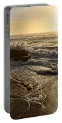 Sunrise Waves On The Rocks By Kaye Menner Portable Battery Charger