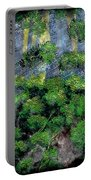 Suns Rays - Forest - Steel Engraving Portable Battery Charger