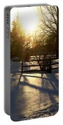 Sunset After The Snow Storm Portable Battery Charger