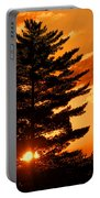 Sunset And Pine Tree  Portable Battery Charger