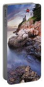 Sunset At Bass Harbor Lighthouse Portable Battery Charger