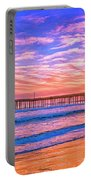 Sunset At Cayucos Pier Portable Battery Charger