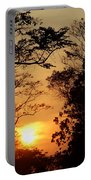 Sunset At Jungle Portable Battery Charger