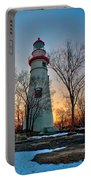 Sunset At Marblehead Lighthouse Portable Battery Charger