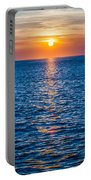 Sunset At Sea With Multiple Color Prizm Portable Battery Charger