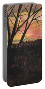 Sunset At Spring City Tenn Portable Battery Charger