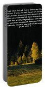 Sunset At The Cabin With Scripture Portable Battery Charger